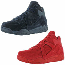 Fila Mens The Cage Red Suede Basketball Shoes Sneakers 8 Medium (D) BHFO 5265
