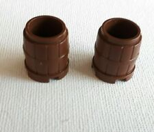 LEGO PARTS CONTAINER BARREL OLD BROWN  2X 6296 6289 5975 4179 6054 6280 6093