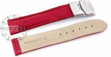 Waterproof Band Wrist Watch Band Red Seam Folding Clasp 0 25/32in