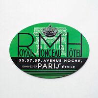 "#2257 Arch Hotel Paris France vintage retro 5""x3"" luggage label Decal Sticker"
