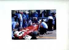 Arturo Merzario Ferrari 312 B2 di British Grand Prix 1972 firmato fotografia 5