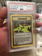 Celadon City Gym First Edition Pokemon Card PSA 10 Pop 13
