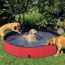 More details for xxl large dog puppy pet bath swimming pool portable folding paddling bathtub uk