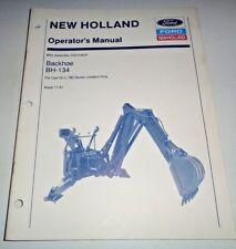 New Holland Bh 134 Backhoe Operators Manual Nh Fits L 780 Skid Steer Loader