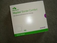 10 MEPILEX BORDER COMFORT SOFT SILICONE FOAM DRESSINGS 12.5 X 12.5CM MOLNLYCKE