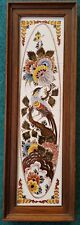 Tableau 4 Dutch Delft Polychrome Tiles with Bird and Flowers