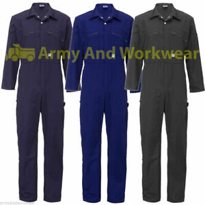 Ladies Heavy Duty BoilerSuit Zip Front Workwear Boiler Suit Coverall Overall Tuf