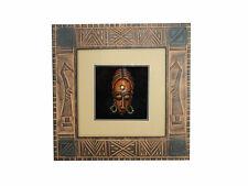Wandbild Bild mit Holzmaske Südamerika Maske Deko Holzrahmen 30x30cm Art.09