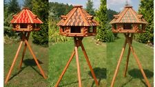 Luxus Vogelhaus XXL oder Standard,wahlweise mit Ständer und Solarbeleuchtung V13