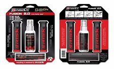 Risk Racing FUSION 2.0ATV MTB BMX Empuñaduras + TECH ADHESIVO Sistema Negro Rojo