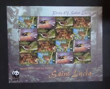 St Lucia 2001 Endangered Species Birds SG1242/5 sheetlet MNH UM unmounted mint