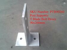 T Blade, Hot dip galvanised steel post supports