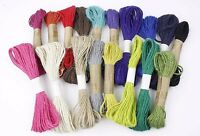 10m Coloured Jute Twine Hessian String 2 Ply Cord Wrapping [BUY 2 GET 1 FREE]