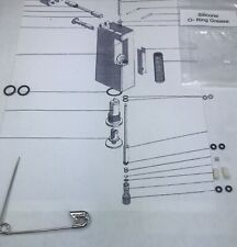 Lighter Service KIT for 2 Vintage dunhill Rollagas lighters, (+1 #31 Spring)
