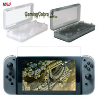 For Nintendo Switch Tempered Screen Protector & Game Card Cases White Blown 2pcs
