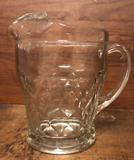 Vintage Georgian Honeycomb Thumbprint Thick Glass Pitcher Water Beer Lemonade