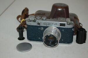 FED 2 Type B4 Vintage Blue 1957 Soviet Rangefinder Camera, Case. 490767. UK Sale