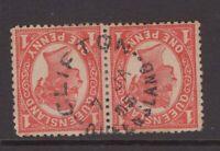 Queensland nice CLIFTON 1905 unframed postmark on QV pair