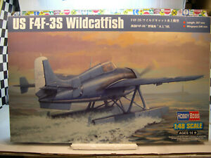 WWII US F4F-3S WILDCATFISH HOBBY BOSS 1:48 SCALE PLASTIC MODEL AIRPLANE KIT