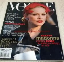 MADONNA - Cover & Photo Feature in SPANISH VOGUE Magazine, January 1997