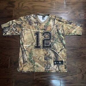 Green Bay Packers Aaron Rodgers 12 NFL Football Jersey Mens Large Camo Camoflage