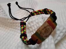 Crochet wristband BRACELET bob marley jamaiga HIPPIE RASTA REGGAE handmade BOHO