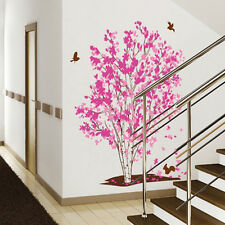 Pink Family Tree DIY Wall Sticker Home Decor Vinyl Decal Art Removable PVC Fun.