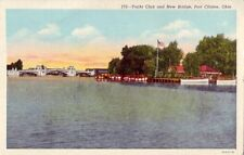 YACHT CLUB AND NEW BRIDGE. PORT CLINTON, OH 1946