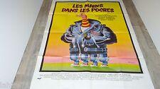 stallone LES MAINS DANS LES POCHES !  rare affiche cinema 1974