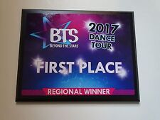 NEW! BTS BEYOND THE STARS DANCE COMPETITION 1ST FIRST PLACE WINNER AWARD PLAQUE