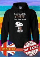 Snoopy Sometimes I Like Coffee Hoodie Novelty Pullover Men Women Unisex V237