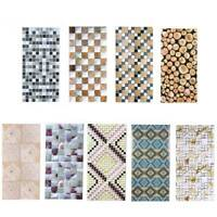 Mosaic Sticker Kitchen Tile Stickers Bathroom Self-adhesive Wall Decor DIY Home