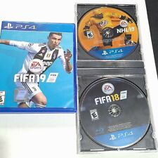 Lot Of 3 PlayStation 4 Games  FIFA 19, FIFA 18, NHL 19 All are Disc Only in Case