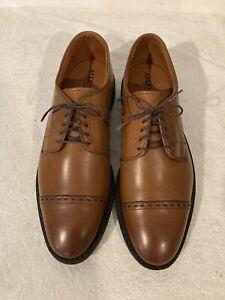 NEW $325 Allen Edmonds Broadview Walnut Cap Toe Oxfords Size 10.5D