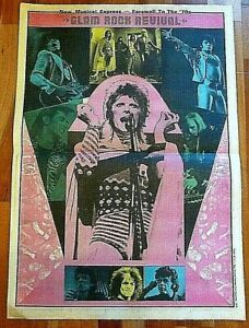 DAVID BOWIE GLAM ROCK POSTER FROM 1979 NME  SIZE  37/50CM