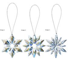 "Ganz H7 Crystal Acrylic 3"" Holiday Christmas Mini Glo-Flake Ornaments ORN-SNW-1"