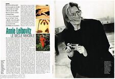 COUPURE DE PRESSE CLIPPING 1992  ANNIE LEIBOVITZ photographe  (2p)