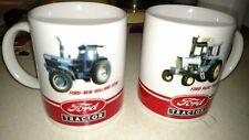 2 Mugs Cups Ford 9600 Tractor + Ford New Holland 8730