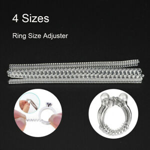 4 Sizes/set Clear Ring Size Adjuster Insert Guard Tightener Reducer Resizing Fit