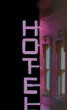 VERTICAL HOTEL ANIMATED SIGN FOR HO-SCALE LEFT VIEW- LIGHTS, BLINKS & MORE!