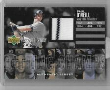PAUL O'NEILL 2002 UPPER DECK PIECE OF HISTORY GAME USED PINSTRIPE JERSEY