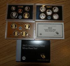 2012 United States Mint Silver Proof Set w/ Box & COA