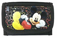 NEW DISNEY MICKEY MOUSE KID TRI-FOLD WALLET BLACK COLOR ORIGINAL LICENSED CUTE