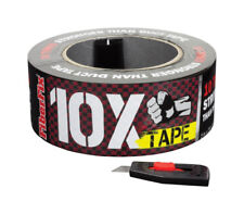 FIBERFIX 10X DUCT TAPE Fiber Fix 2 in x 20 yd Checkered Black & Red