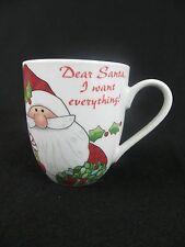 """DEAR SANTA - I WANT EVERYTHING"" COFFEE MUG - 10 OUNCE CHRISTMAS COFFEE MUG"