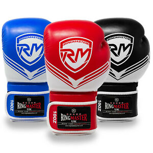 RingMaster Boxing Gloves Focus Bag Punch Training Pads Sparring MMA Martial Arts