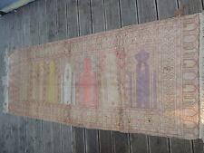 1018 ANTIKER ORIENT TEPPICH KAYSERI TÜRKEI 7 GEBETSNISCHEN SEIDE 86 cm x 219 cm