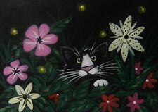 CAT ACEO- 'The Night Time Stalker '   - Pryjmak