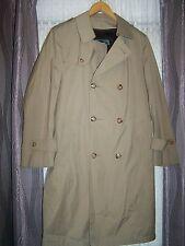 Vintage Mens Botany Trench Coat Removable Zip Out Lining 40 Regular EUC Medium