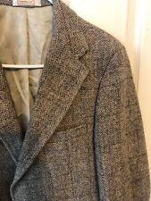 Harris Tweed Mens Sport Coat 100% Scottish Wool Gray Plaid 38S
